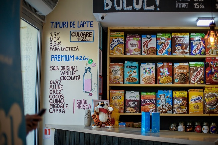 Cereal Crunch Cafe Lapte Milk Bar