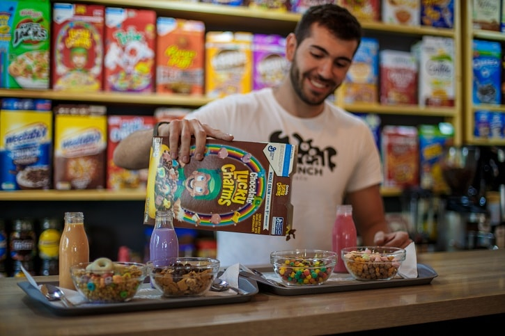 Cereal Crunch Cafe Lucky Charms