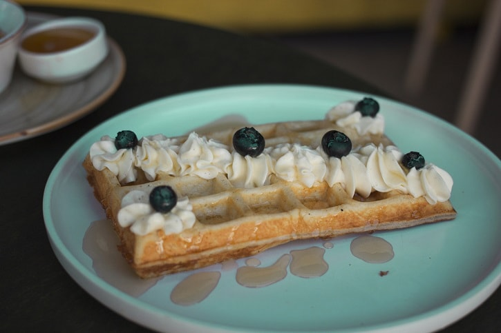 Nuba Cafe Cream Cheese Waffles