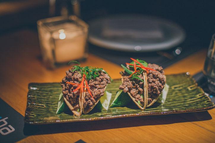 Tacos cu vita Wagyu