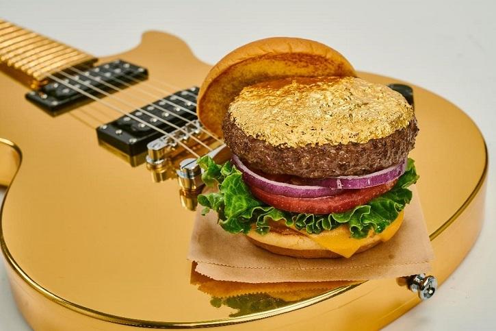 24K Gold Leaf Steak Burger Hard Rock