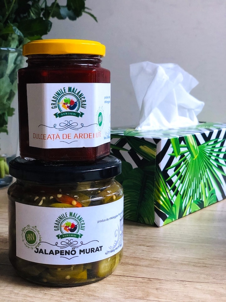 Grădinile Mălâncrav dulceata de ardei iute