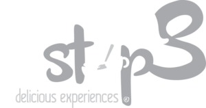 Logo Yum Stops Alb Negru Fara Fundal