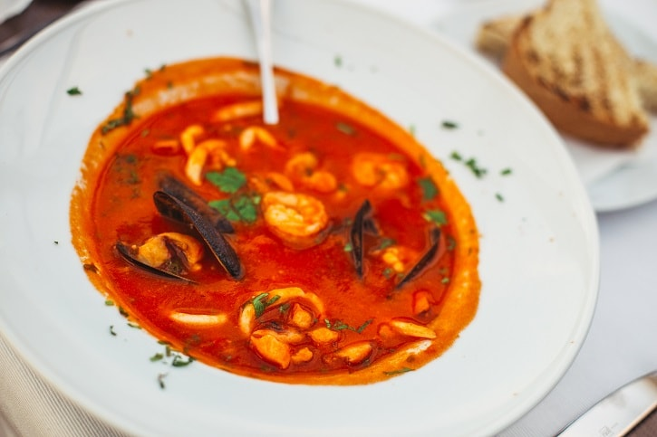 Restaurant Herastrau Supa din fructe de mare