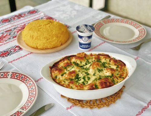 Conopidă Gratinată cu Brânză și Smântână de Bivoliță