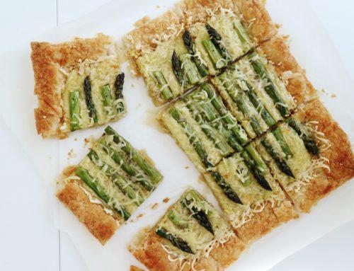 Tartă din Foietaj cu Sparanghel și Brânză Emmental